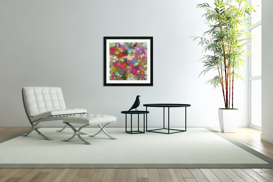 Falling petals in Custom Picture Frame
