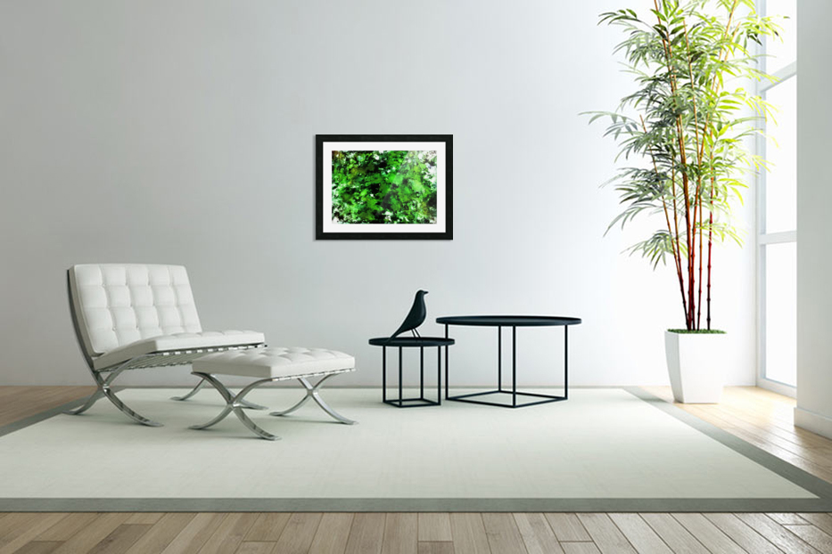 Green deflected in Custom Picture Frame
