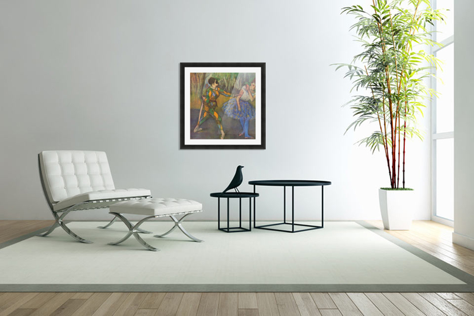 Harlequin and Colombine by Degas in Custom Picture Frame