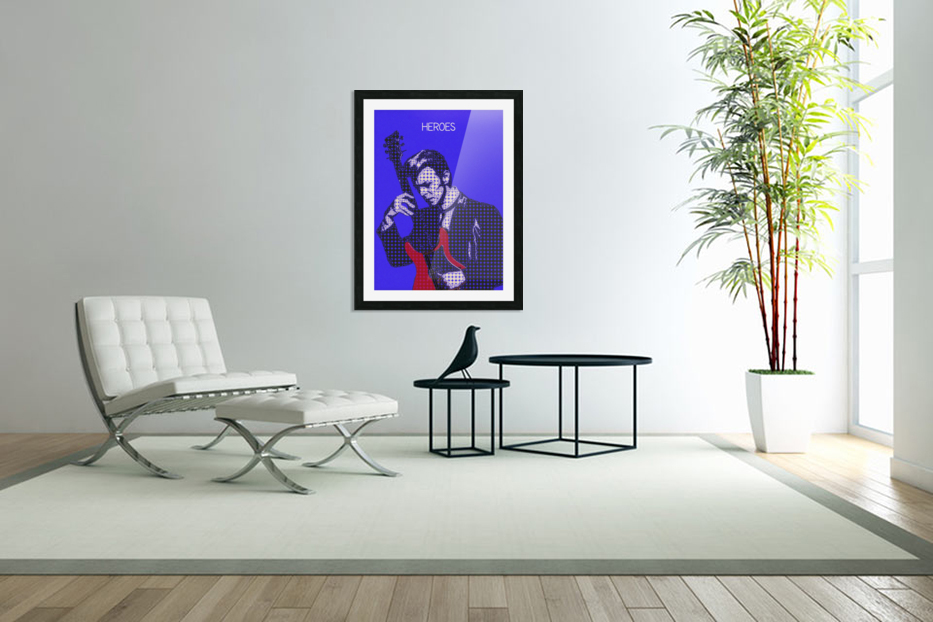 Heroes   David Bowie in Custom Picture Frame