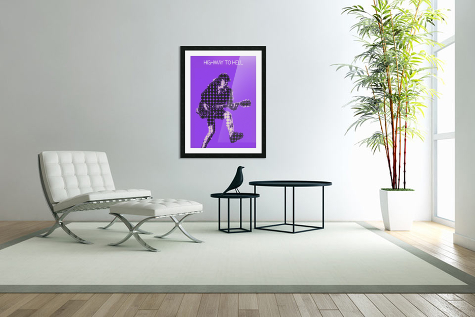 Highway to Hell   Angus Young in Custom Picture Frame