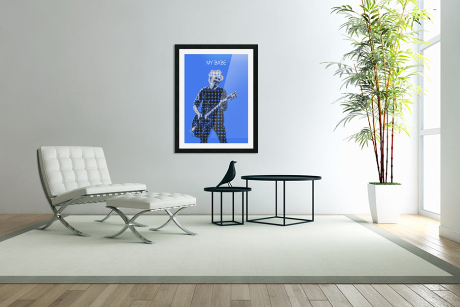 My Babe   Keith Richards in Custom Picture Frame