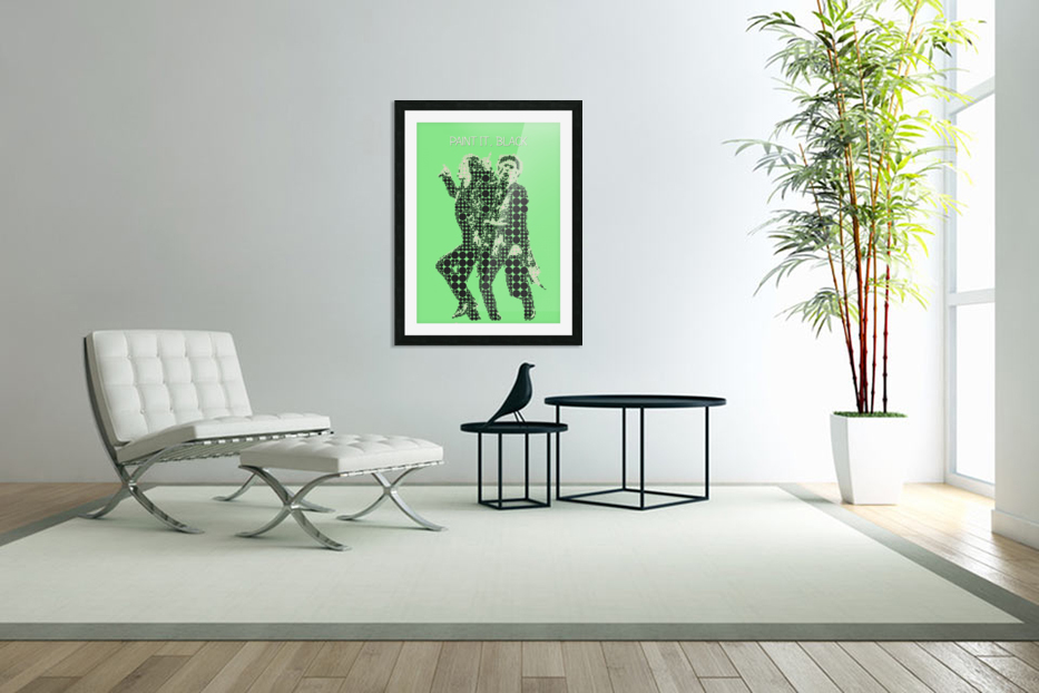 Paint it Black   Mick Jagger and Keith Richards in Custom Picture Frame