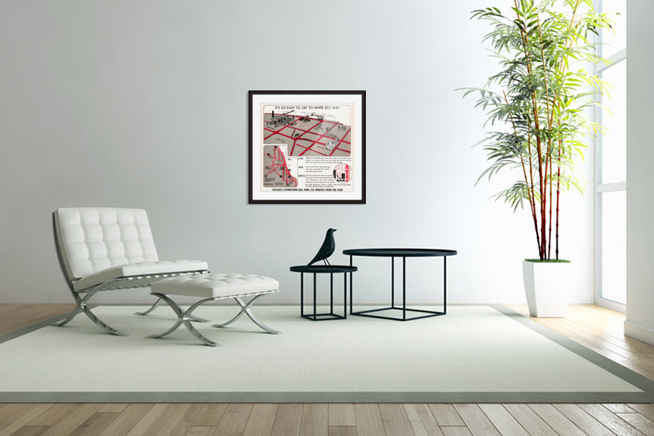 chicago map in Custom Picture Frame
