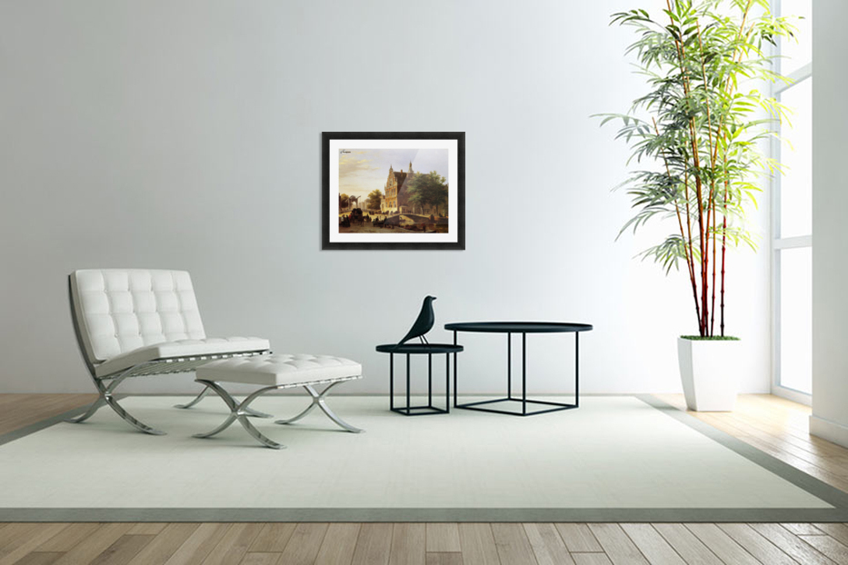 City view Sun in Custom Picture Frame