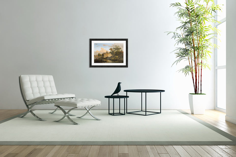 View of a Dutch City in Custom Picture Frame