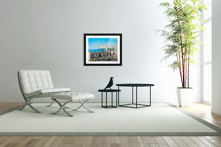 San Francisco Skyline in Custom Picture Frame