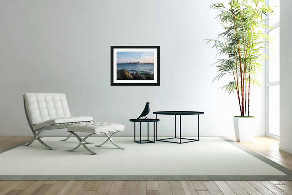 San Francisco City Skyline At Sunset in Custom Picture Frame