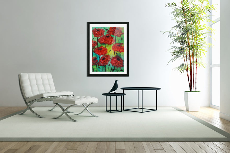 Thinking of Poppies in Custom Picture Frame