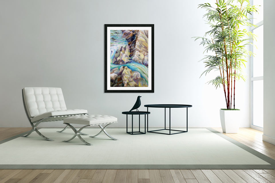 Rocky Mountains Crystel River Colorado in Custom Picture Frame