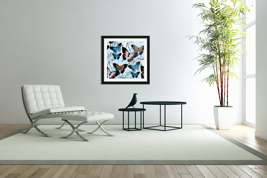 Seamless Butterflies Pattern  in Custom Picture Frame