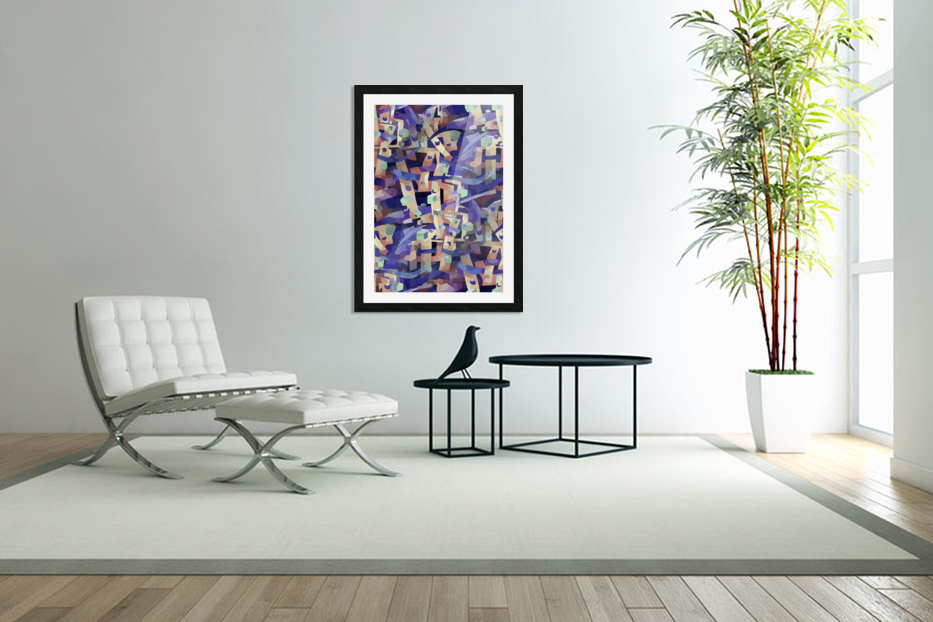 Seamless Geometric Vivid Abstract in Custom Picture Frame