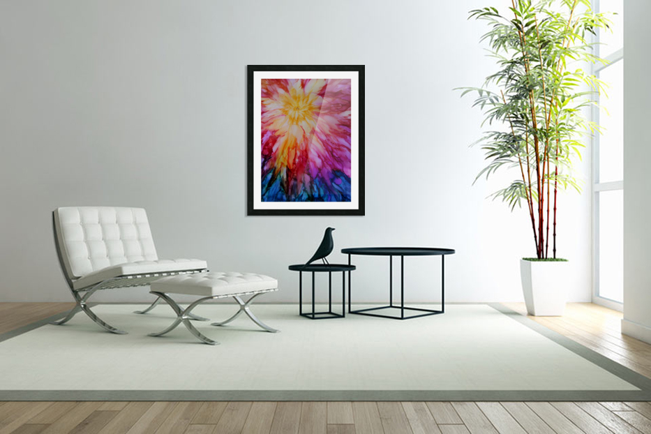 Rainbow Bloom in Custom Picture Frame