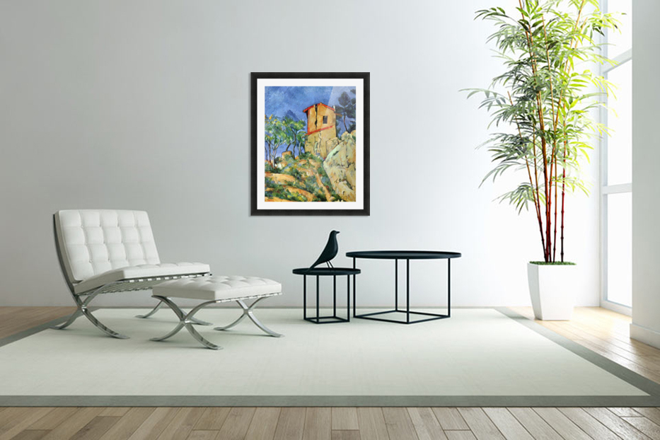 House with Walls by Cezanne in Custom Picture Frame