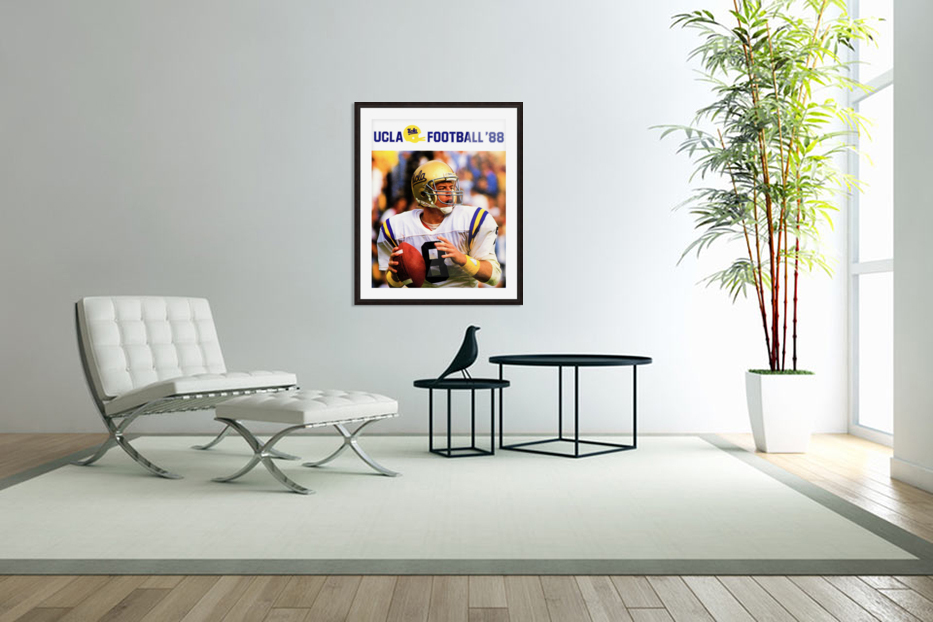 retro college sports posters ucla bruins football in Custom Picture Frame