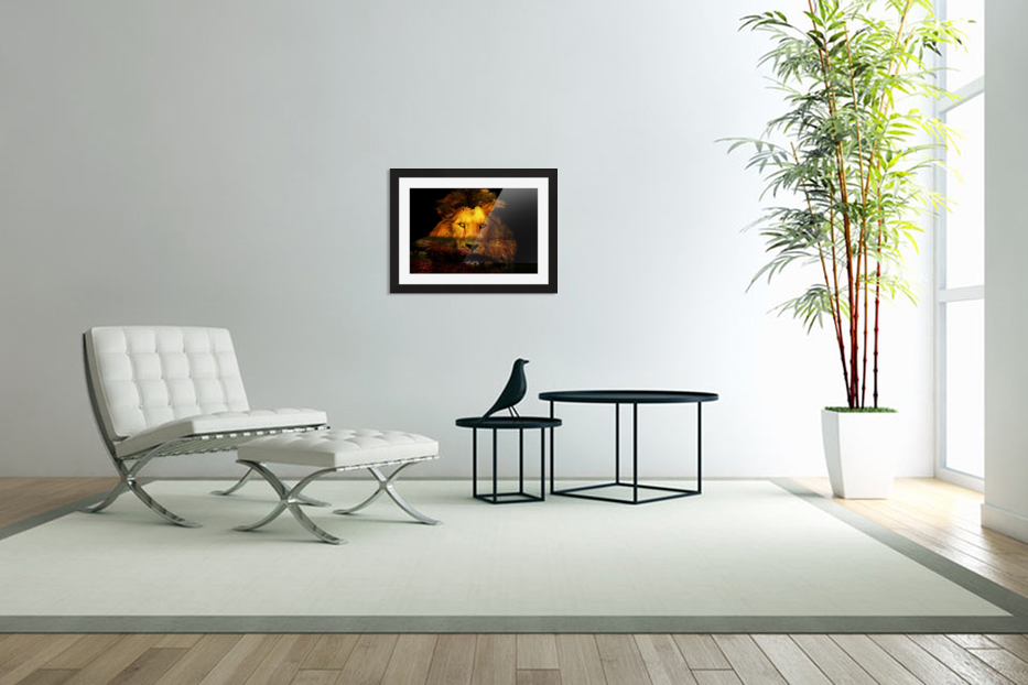 The Lion Watches in Custom Picture Frame