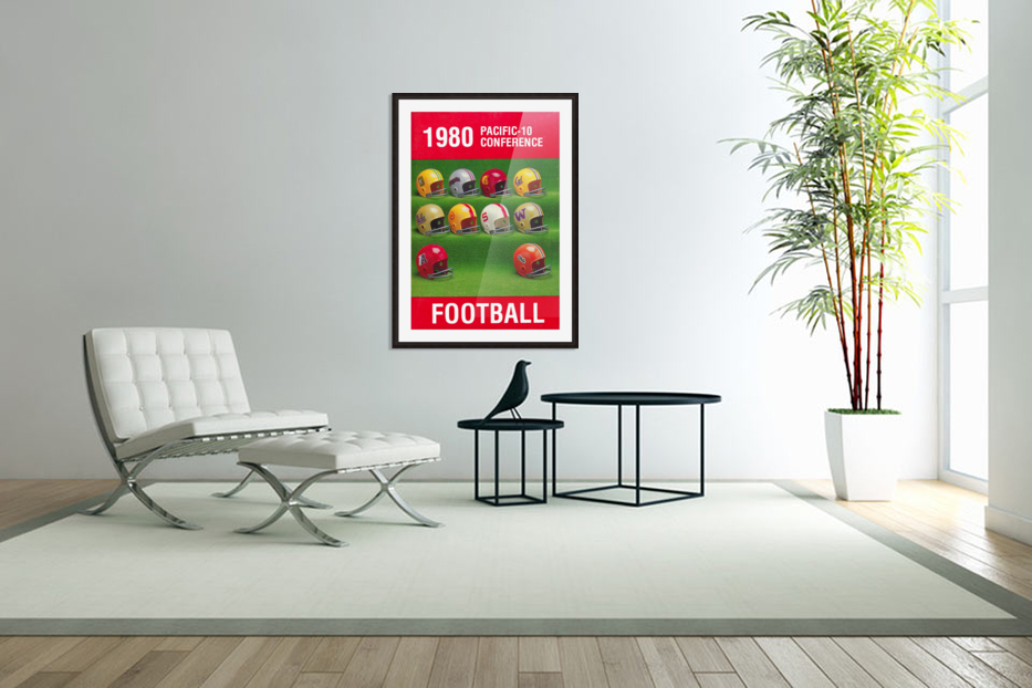 1980 Pac 10 Football Poster in Custom Picture Frame
