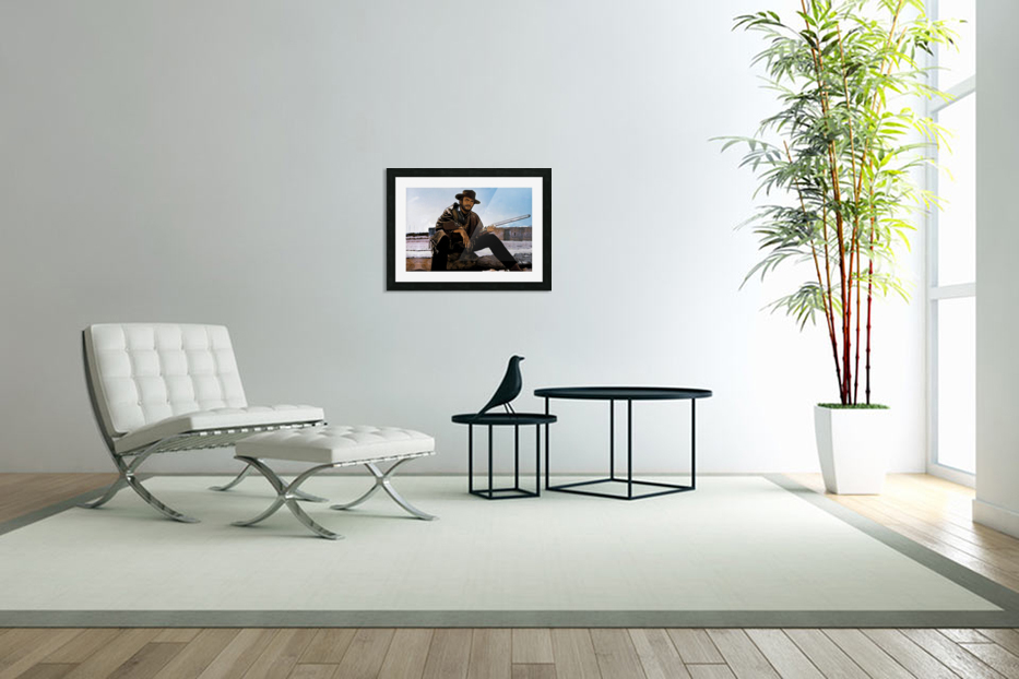 Clint Eastwood as The Man With No Name in Custom Picture Frame