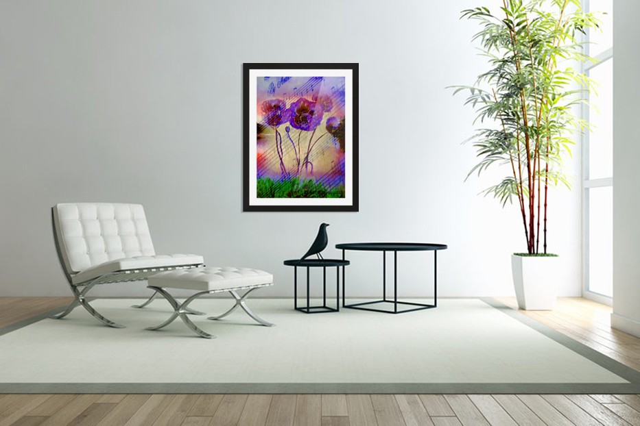 Dancing Flowers in Custom Picture Frame