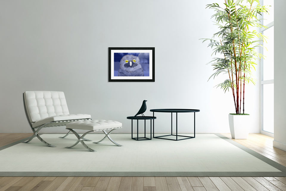 snow owl in Custom Picture Frame