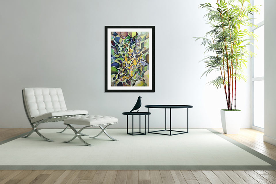 Chaos Theory in Interlacing Style  in Custom Picture Frame