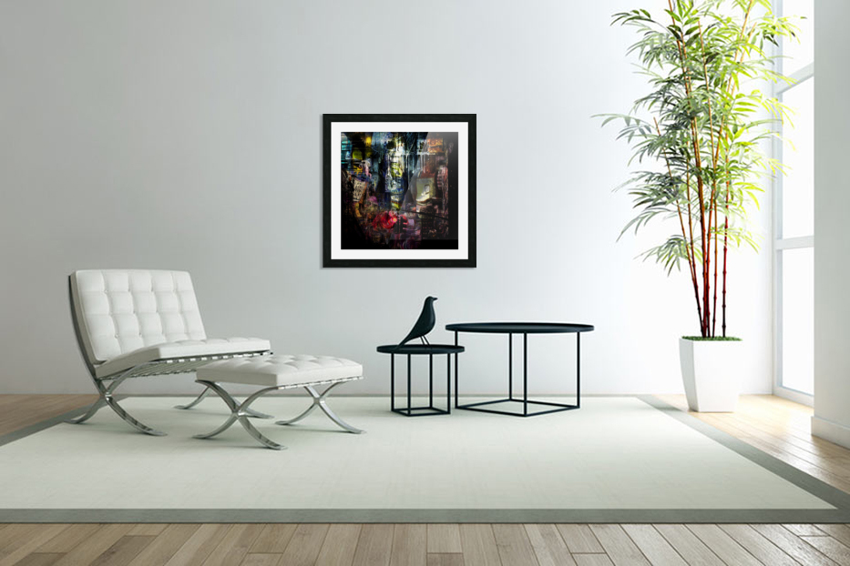In the Heart of the City in Custom Picture Frame
