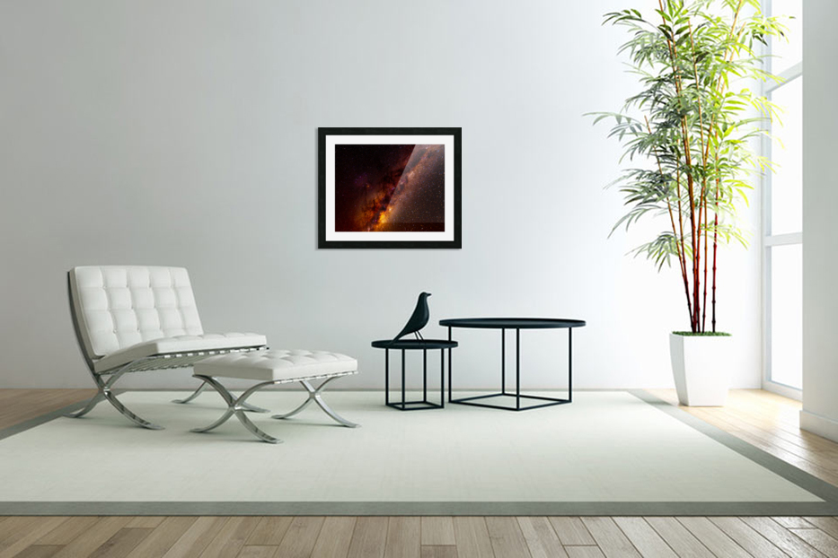Galactic Core Explosion in Custom Picture Frame