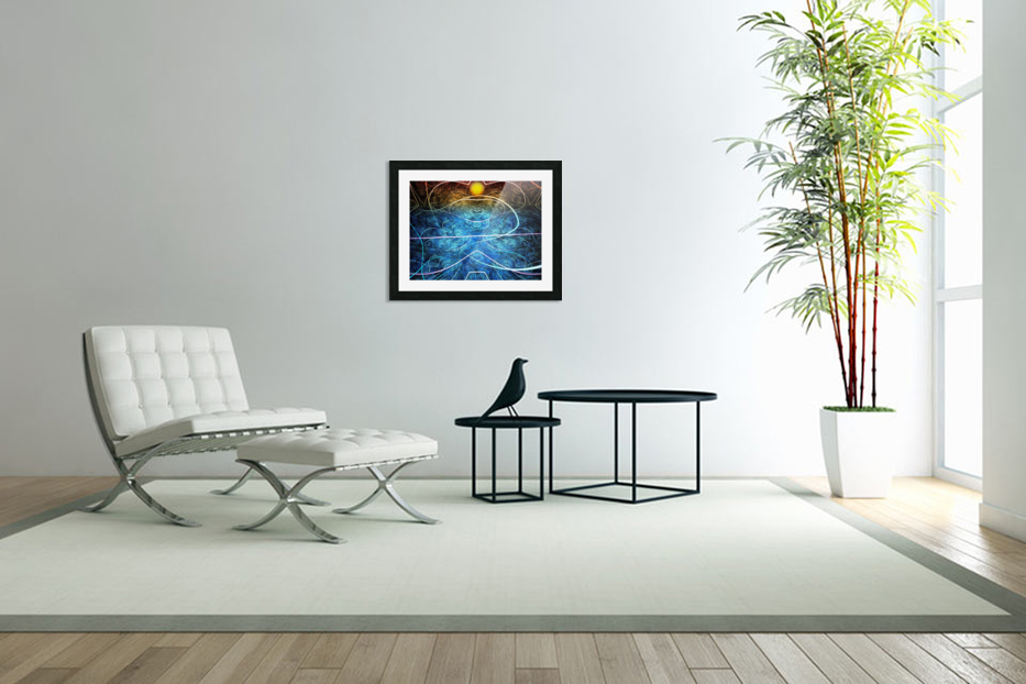 Azure shallow sunset in Custom Picture Frame