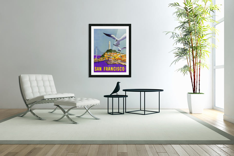 San Francisco Bay in Custom Picture Frame