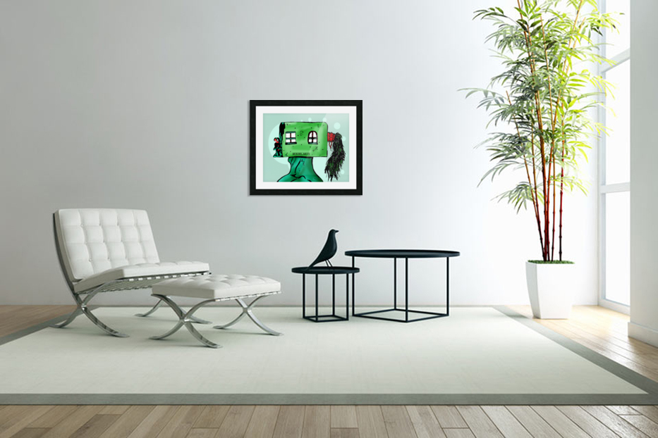 House Man  in Custom Picture Frame