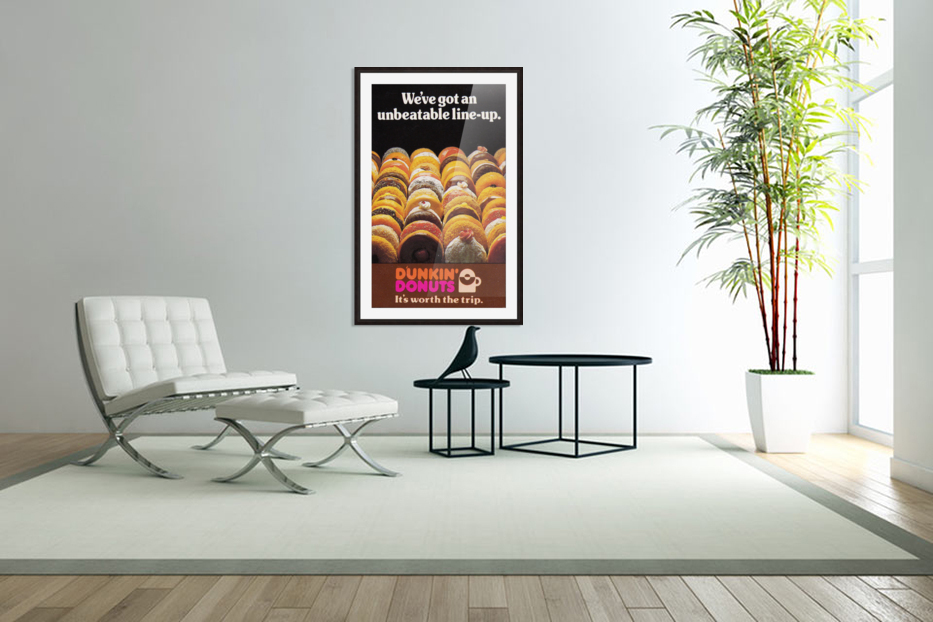 vintage dunkin donuts ad in Custom Picture Frame