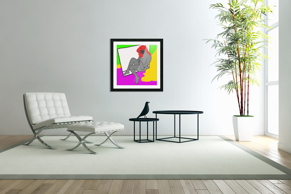 AI Woman in Custom Picture Frame