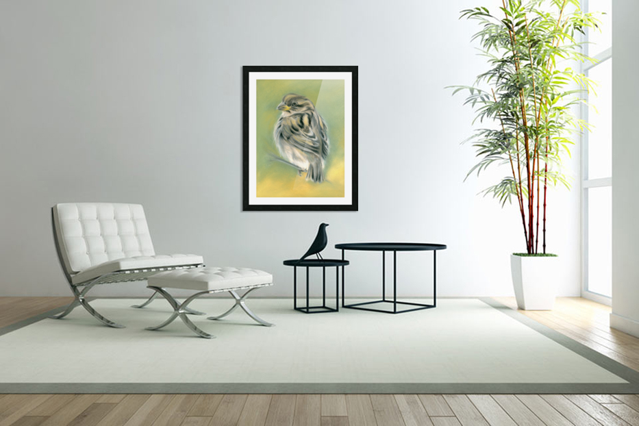Sunny Sparrow in Custom Picture Frame