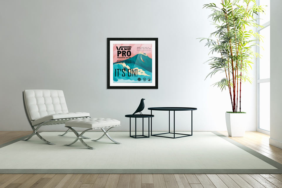 2019 VANS PRO Print - Surfing Poster in Custom Picture Frame