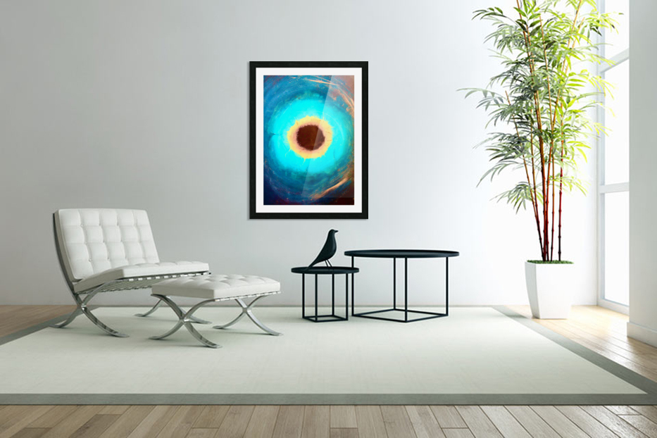 Glimpse of Black Hole No.3 in Custom Picture Frame