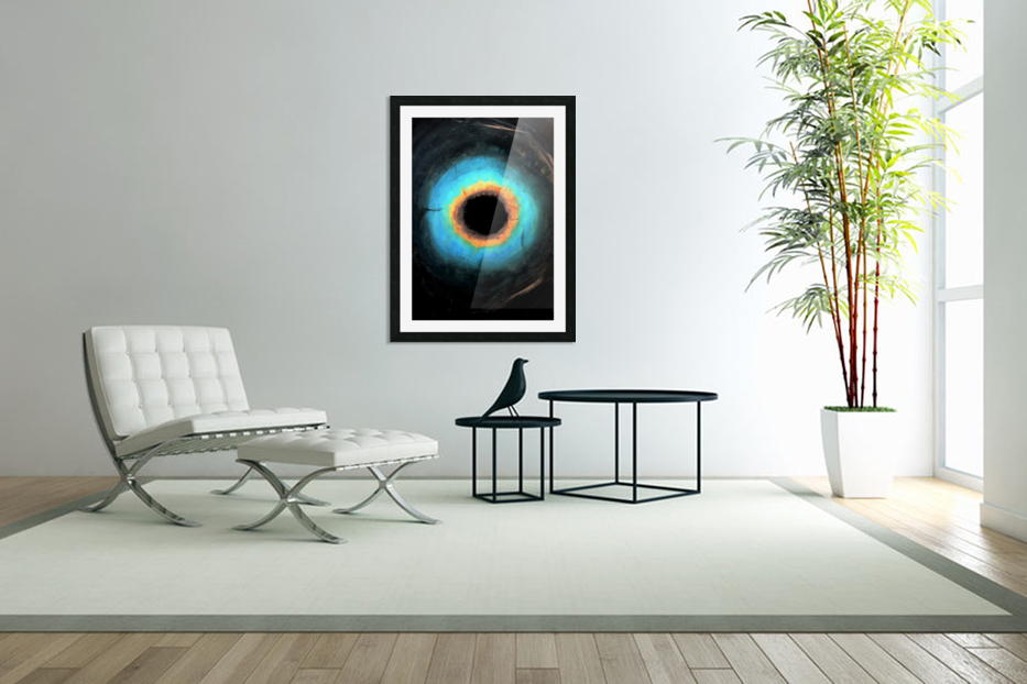 Glimpse of Black Hole No.2 in Custom Picture Frame