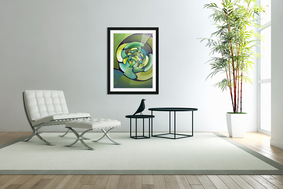 Artdeco Twisted Pattern  in Custom Picture Frame