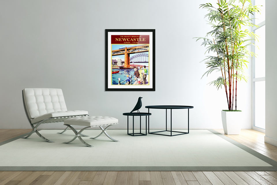 Newcastle upon Tune in Custom Picture Frame