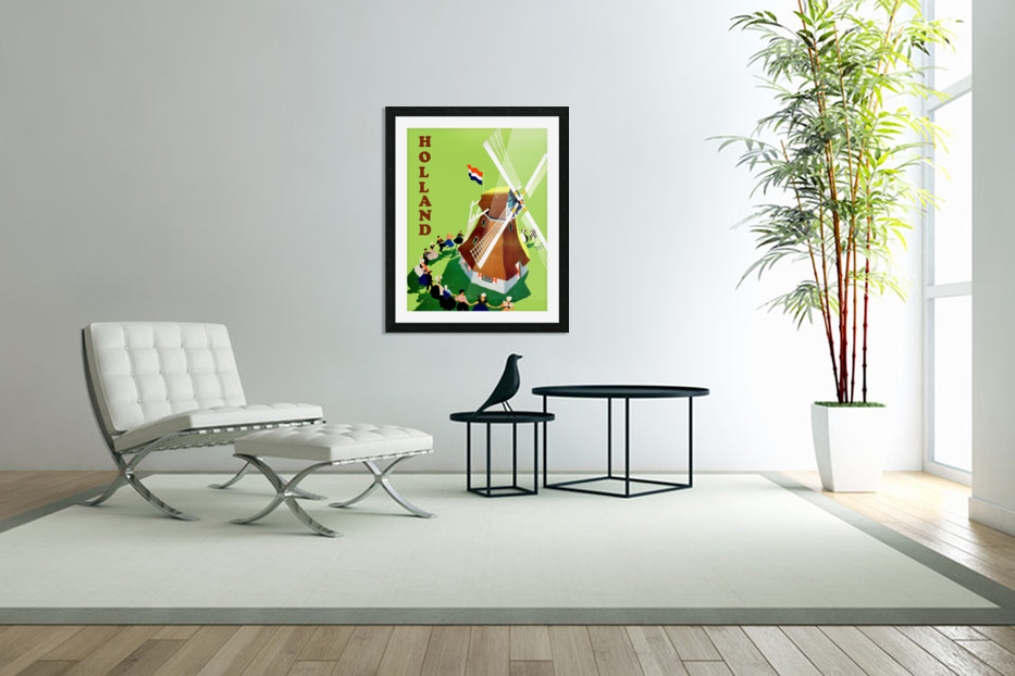 Holland Windmill in Custom Picture Frame