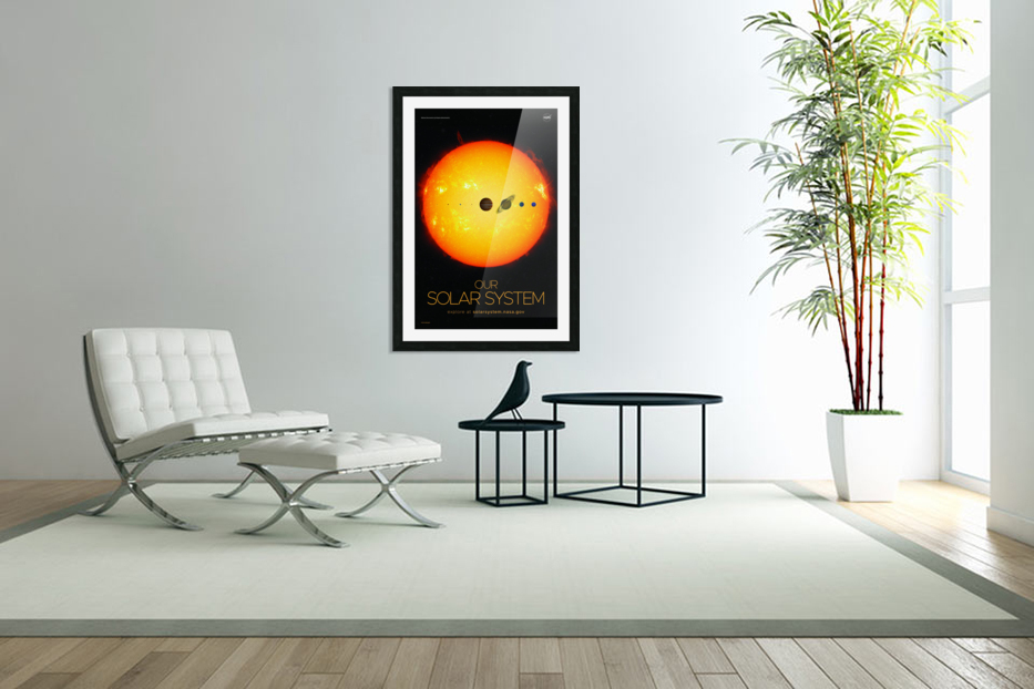 Our solar system in Custom Picture Frame