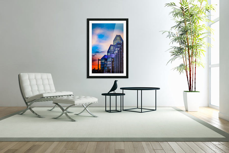 Sunset at the National Gallery of Canada in Custom Picture Frame