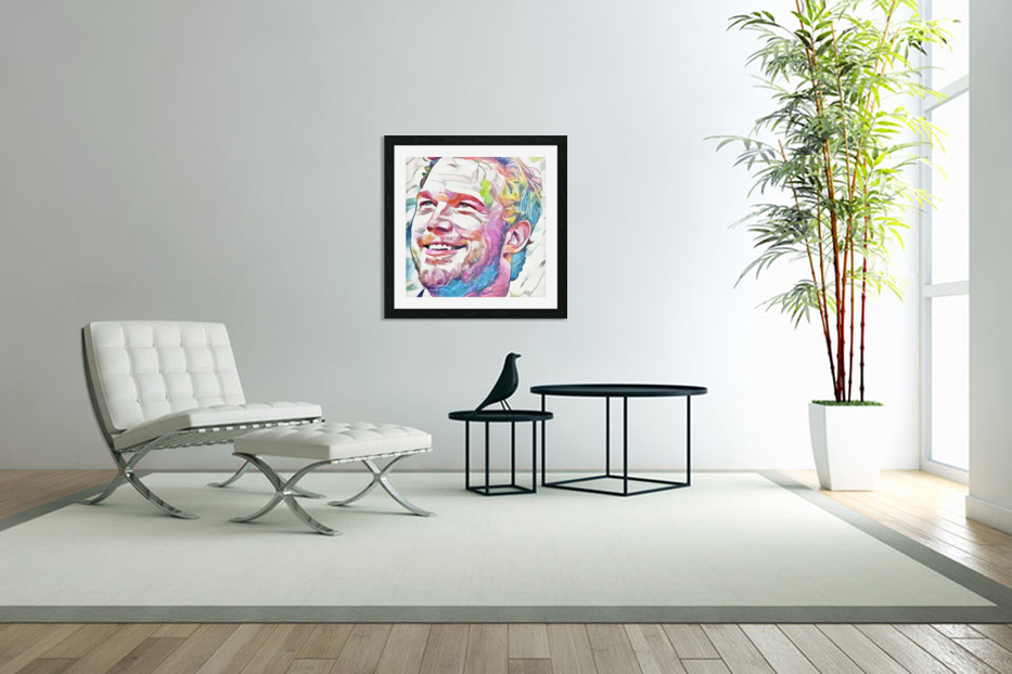 Chris Pratt - Celebrity Abstract Art in Custom Picture Frame