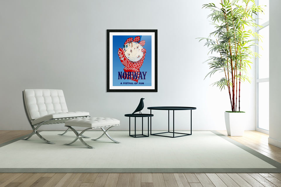 Norway Fistful of Fun in Custom Picture Frame