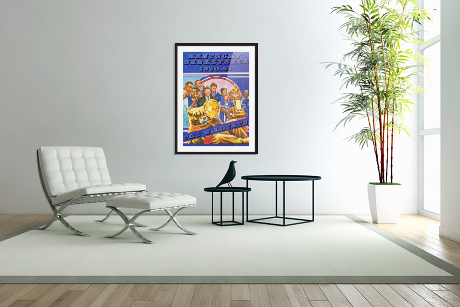 1980 kentucky wildcats basketball poster ted watts sports artist in Custom Picture Frame
