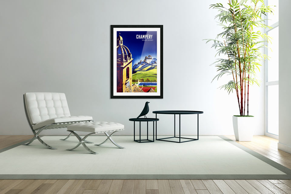 Champery in Custom Picture Frame