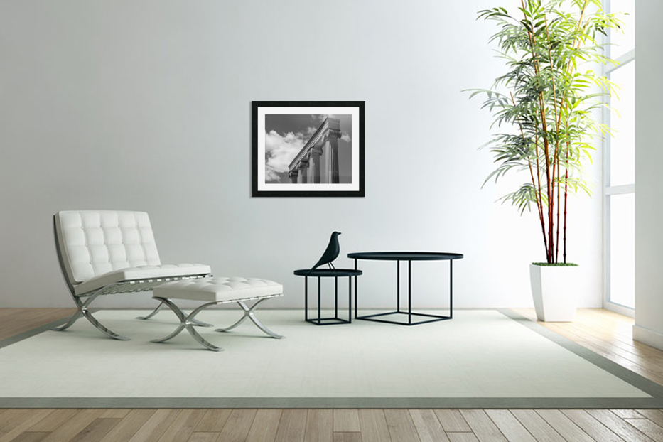KIng West Columns in Custom Picture Frame