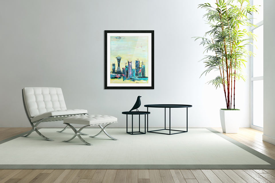 Uptown Seattle  in Custom Picture Frame