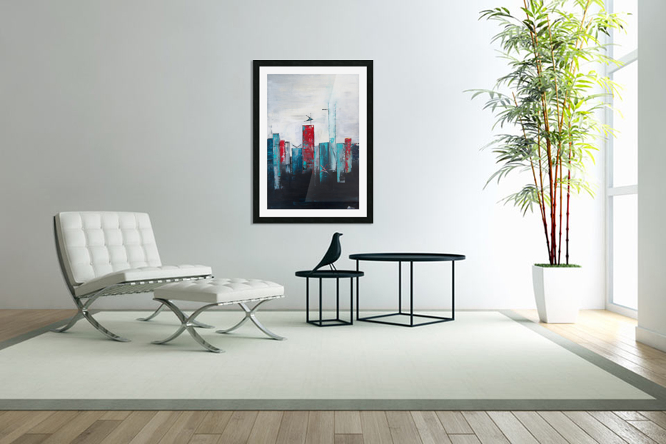 Uptown IV in Custom Picture Frame