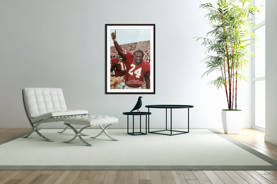 1974 oklahoma sooners football national champions poster sports wall art in Custom Picture Frame