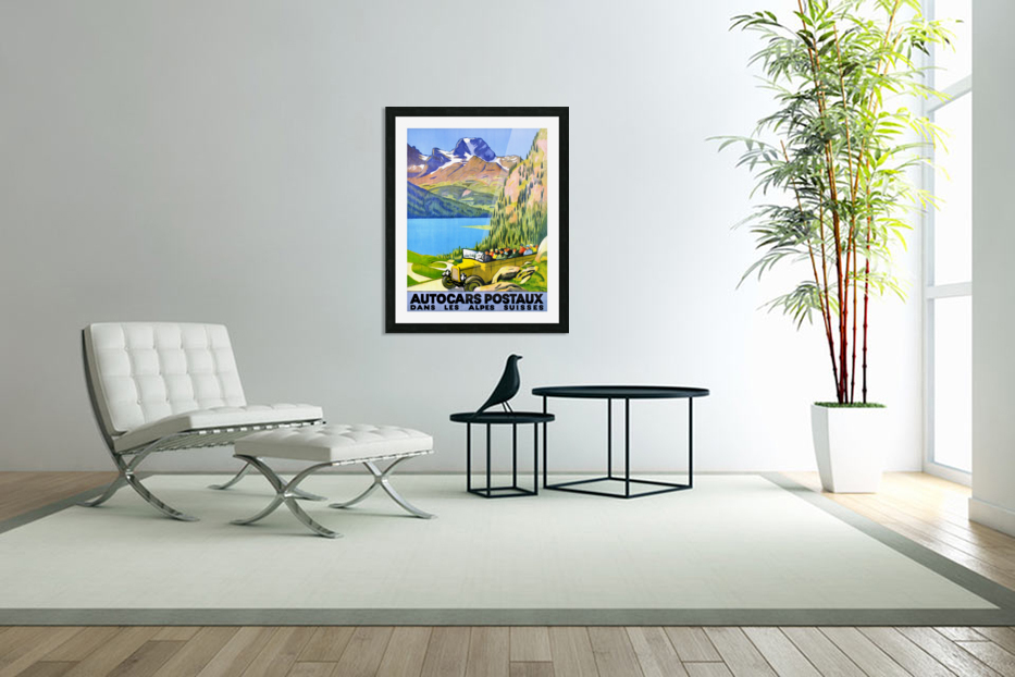 Swiss Alps by Car in Custom Picture Frame